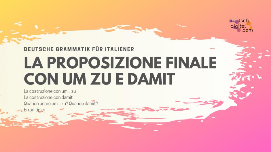 La proposizione finale in tedesco